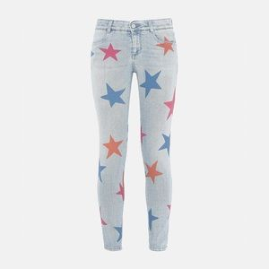 Stella McCartney Skinny Boyfriend Jeans With Stars